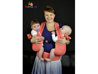 13 УРА))) Носить двойню в слинге-рюкзаке легче, чем на руках!