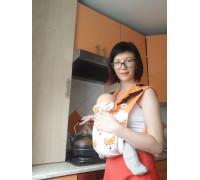 """Май-слинг """"Рыжий лис"""" для новорожденных"""