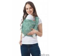 """Слинг-шарф """"Флорал"""" изумруд, 4,7 м для детей от 0 мес"""