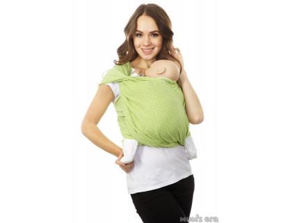 """Слинг-шарф для детей с рождения до 2 лет - """"Диамант"""" лайм"""